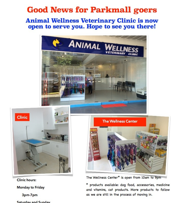 The Branch in ParkMall is now Open – ANIMAL WELLNESS VETERINARY
